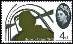 Stamp: Pilot in Hawker Hurricane Mk I (United Kingdom of Great Britain & Northern Ireland) (Battle of Britain) Mi:GB 389 David Gentleman, Uk Stamps, Commemorative Stamps, Postage Stamp Art, Kingdom Of Great Britain, Battle Of Britain, Modern History, Royal Mail, Penny Black