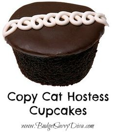 Copy Cat Hostess Cupcake Recipe  There is a recipe here and instructions and also here is the blogger more of less begging you to re-pin it, do as you please.