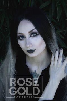 Goth Portraits of alternative model, The Black Metal Barbie. (Wig by Donalove Hair, use code METALBARBIE for $8 off)  #portraitphotography #gothmodel #alternativemodel #evenstar #arwen #lotr #wig #silverhair #greyhair #gothstyle #metalgirl #creativeportrait