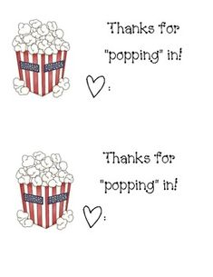 This is an idea for you to print out, sign your name, and attach to a bag of popcorn for an enjoyable treat after Meet the Teacher or Back to School night! Jungle Theme Classroom, Science Classroom, Art Classroom, Classroom Themes, Back To School Night, Beginning Of The School Year, Preschool First Week, Open House Activities, Curriculum Night