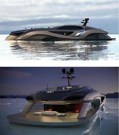 Xhibitionist luxury Super-yacht concept
