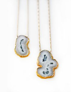 SOLAR quartz slice necklace by keijewelry on Etsy, $66.00