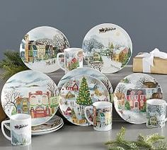 Shop Christmas plates and dinnerware from Pottery Barn. Get into the Christmas spirit and set your table with festive plates in a variety of colors and materials. Christmas Dinnerware Sets, Christmas Dishes, Christmas Holidays, Dinner Plates For Sale, Dinner Plate Sets, Pottery Barn, China Patterns, Decorative Plates, Holiday Decor