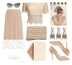 """""""COOL NEUTRALS"""" by emcf3548 ❤ liked on Polyvore featuring Needle & Thread, Dolce&Gabbana, Dempsey & Carroll, Topshop and Tomasini"""