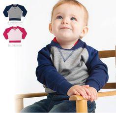 Contrast raglan sweatshirt Pale Pink, Heather Grey, Contrast, Chair, Baby, Sweatshirt, Furniture, Home Decor, Decoration Home