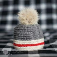 Tuque pour bébé au crochet, style bas de laine, Sock monkey style baby hat a596bdfe829