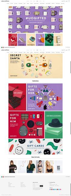 #landingpage #christmas UO Gift guide Main Page