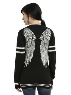 Designer Clothes, Shoes & Bags for Women Cute Outfits For School, Cool Outfits, Supernatural Outfits, Supernatural Gifts, Winged Girl, Hot Topic Shirts, Future Clothes, Fandom Outfits, Castiel