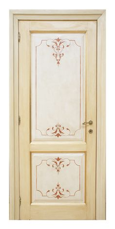 Pitti - Classic door decorated by hand Hand Painted Furniture, Paint Furniture, Home Decor Furniture, Classic Window, Classic Doors, Painted Interior Doors, Painted Doors, Door Design, Wall Design
