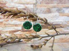Polymer earrings - Ornamenty v zelenej