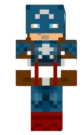 The Avengers Minecraft Skins: Captain America. I don't like mine craft but this is pretty freakin' epic.