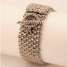 Hexed Peyote Cuff - Item Number 16325  pattern available. 5.00