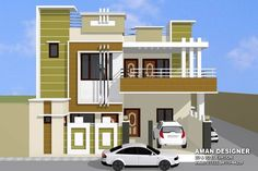 70 Ideas Small House Front Door For 2020 Row House Design, Single Floor House Design, Duplex House Design, Duplex House Plans, Simple House Plans, Modern House Plans, House Elevation, Front Elevation, 20x40 House Plans