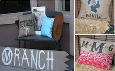 Western themed custom pillows from MonMell Designs