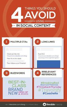 #Social content tips
