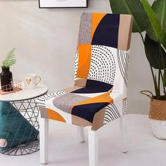 Dining Room Chair Covers, Dining Chair Slipcovers, Dining Room Chairs, Dining Furniture, Office Chairs, Dining Set, Stretch Chair Covers, Patterned Chair, Kitchen Seating