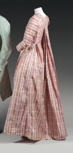 ladies dress robe la fran aise 18th century plaid and cross barred pinterest mode. Black Bedroom Furniture Sets. Home Design Ideas