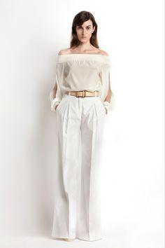 Tanto blusa como pantalon ,basicos en nuestro closet o armario. Resort 2014 Veronique Branquinho