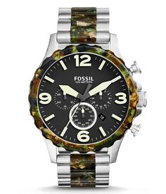 Fossil Nate Watch - Men's Watches in Silver Camo | Buckle