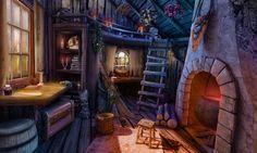 art #gameart #gamedev #madheadgames #gamedevelopmentart #passage #cottage #woodenhouse #cottagei Fantasy concept art Fantasy rooms Environment concept art