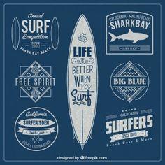 badges de surf