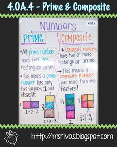Prime and Composite Anchor Chart