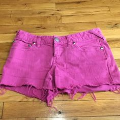 Free People shorts PRICE DROP Hot pink denim cut off shorts. Button and zipper closure. Name written across label, as shown Free People Shorts Jean Shorts