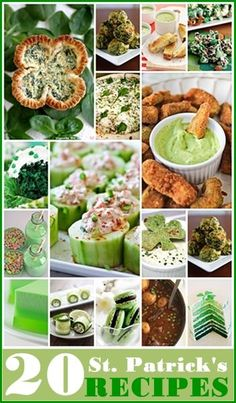 20 St. Patrick's Day Recipes... Eat your greens! #StPatricksDay #holidays #AllAboutThatGreen