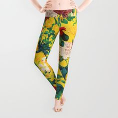 Check out society6curated.com for more! @society6 #floral #flowers #pattern #fashion #womensfashion #style #leggings #pants #cute #art #awesome #sweet #cool #buy #shop #shopping #sale #nice #gift #unique #fun #beautiful #beautfy #pretty #botanical #design #yellow #green #red #cream