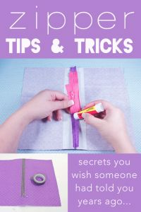 love the glue idea, I have either hand sewn or used tape - this is neat.