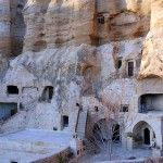 The Luxurious Yunak Evleri Cave Hotel in Turkey. Cappadocia a natural wonder characterized by fairy chimneys, is a magical mountainous landscape in the center of modern Turkey, that was created from a series of volcanic eruptions 9 to 3 million years ago-a famous and popular tourist destination. Carved into a mountain cliff in the ancient village of Urgup, the luxurious hotel is famous for its 6 cave houses with a total of 30 rooms dating back from the 5th and sixth century.
