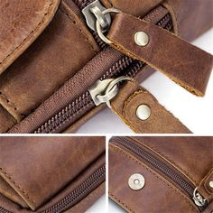 KUAISUF Genuine Leather Men Waist Bag 5.2 Inch Cell//Mobile Phone Case Cover Skin Belt Bags First Layer Cowhide Male Coin Purse