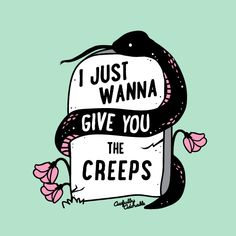 """""""I Just Wanna Give You The Creeps"""" Stickers by Awfully Adorable Rose T Shirt, Halloween Stickers, Vintage T-shirts, Aesthetic Stickers, Creepy Cute, Sticker Design, Dark Art, Art Inspo, I Tattoo"""