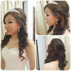 Princess Hairstyle ~ By: Dress Up Room… Elegant Hairstyles, Formal Hairstyles, Pretty Hairstyles, Girl Hairstyles, Wedding Hairstyles, Dress Makeup, Hair Makeup, Quince Hairstyles, Girls Hairdos