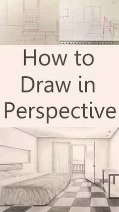 How to draw in perspective. What is linear perspective with one, two or three vanishing points and how to add figures when drawing. Atmospheric perspective and its influence on landscape painting. Pencil Drawing Tutorials, Pencil Art Drawings, Realistic Drawings, Art Drawings Sketches, Drawing Tips, Easy Drawings, Art Tutorials, Painting & Drawing, Drawing Ideas