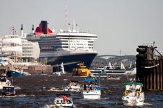 ✝☮✿★ Hamburg ✝☯★☮ Germany - Harbor Birthday with Queen Mary 2