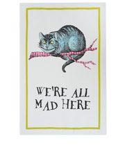 Multicolour Cheshire Cat Cotton Tea Towel