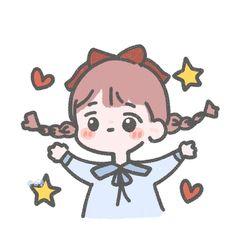 Cartoon Kunst, Cartoon Drawings, Easy Drawings, Cute Images, Cute Pictures, Anime Best Friends, Cartoon Art Styles, Cute Doodles, Kawaii Wallpaper