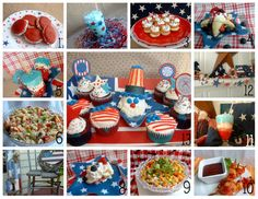 4th of July food and decorating ideas - great for summer parties