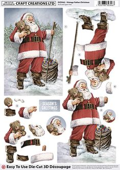 Vintage Father Christmas découpage from Craft Creations