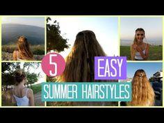 5 Εύκολα Χτενίσματα για το καλοκαίρι | katerinaop22 - YouTube