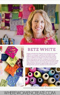 Betz White | Where Women Create May/Jun/Jul 2015 Vol. 7, Issue 3