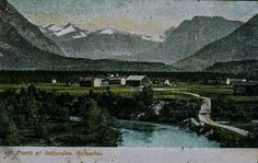 Møre og Romsdal fylke Rauma kommune Isfjorden kolorert kort tidlig 1900-tall Utg Oscar E. Kulls grafiska