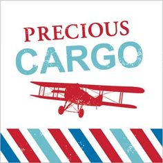 Precious Cargo Baby Shower - Vintage Travel Themed Baby Shower Printables by I Heart to Party