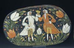 Antique german folk art box
