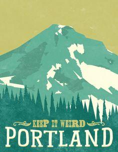 716designs: A cool geometric travel print for Portland, Oregon. Keep it weird, guys. Find it on Etsy!