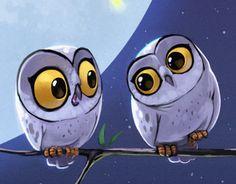 Biboun - Fossard Christophe on Behance Owl Tattoo Design, Tattoo Designs, Owl Bird, Bird Art, Owl Illustration, Illustrations, Animal Drawings, Cute Drawings, Owl Drawings