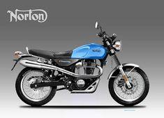Motosketches: NORTON COMMANDO SCRAMBLER 350