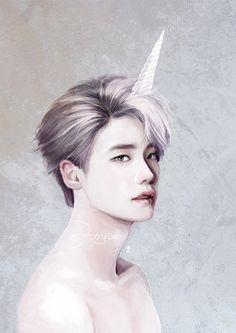 [Fanart] Lee Jong Suk - Unicorn By: bw194