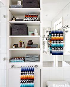 Idéias banho coloridos - Colorful Banheiro Decor - Linda Casa